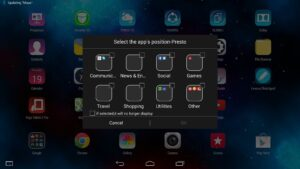 Lenovo Yoga Tablet 2 Pro - Android New App Position